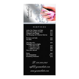 Nail Salon Polish Silver Pink Service Menu
