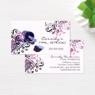 Nail Technician Beauty Salon Business Card