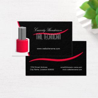 Nail Technician Fingernail Polish Business Card