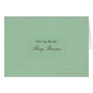Naila Floral Batik Be My Rng Bearer Invitation Greeting Card