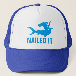 Nailed It Hammer Head Shark Trucker Hat