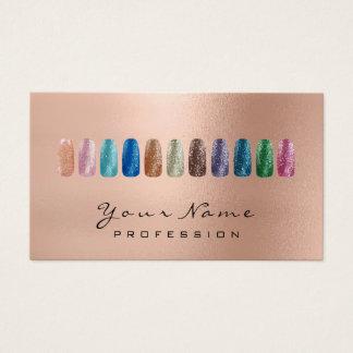 Nails Art Beauty Glitter Rose Gold Lux Business Card