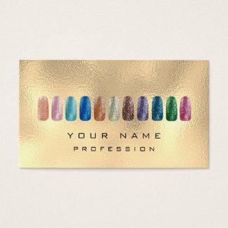 Nails Art Glitter Metallic Glam Champagne Gold Business Card