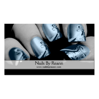 Nails By Reann (Blue Nails) Pack Of Standard Business Cards
