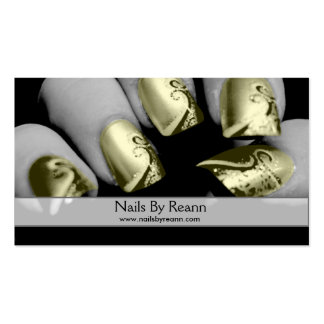 Nails By Reann (Gold Nails) Pack Of Standard Business Cards