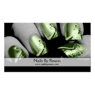 Nails By Reann (Green Nails) Business Card