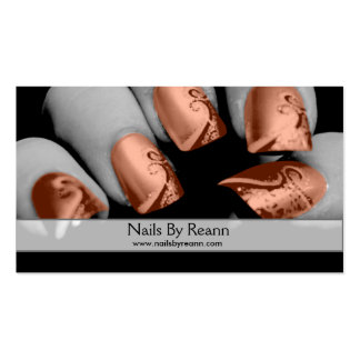 Nails By Reann (Orange Nails) Pack Of Standard Business Cards