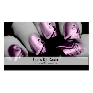 Nails By Reann (Pink Nails) Pack Of Standard Business Cards