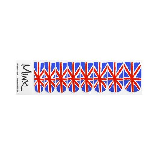 Nails: Minx Union Jack Nails Stickers