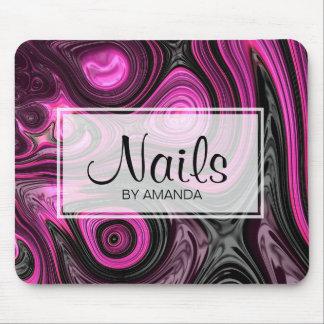 Nails Nail Artist Pedicure NailArt Purple Black Mouse Pad