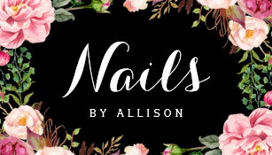Nail salon business cards profile cards zazzle ca nails salon nail technician romantic floral wrap business card colourmoves