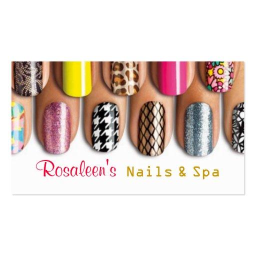 Nails, Salon, Spa , Beauty Business Card