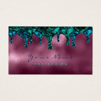 Nails Wax Epilation Depilation Blue Teal Burgundy Business Card