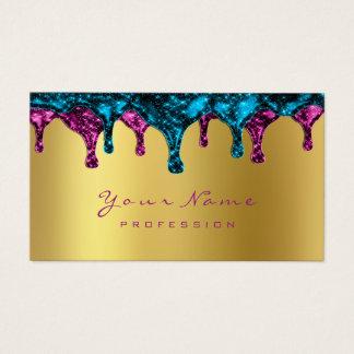 Nails Wax Epilation Depilation Pink Gold Blue Navy Business Card