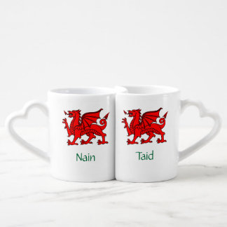 Nain and Taid - Welsh Grandparents' Lovers Mugs
