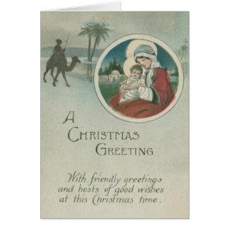 Naissance des salutations de Noël de Jésus Carte De Vœux