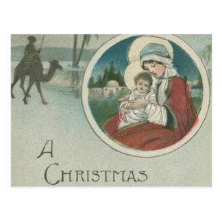 Naissance des salutations de Noël de Jésus Carte Postale