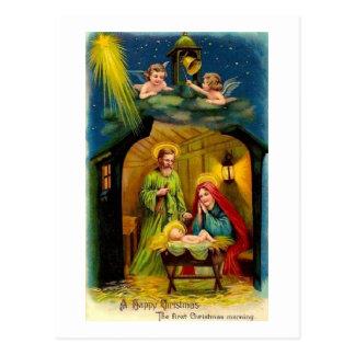 Naissance vintage de Noël de Jésus Cartes Postales