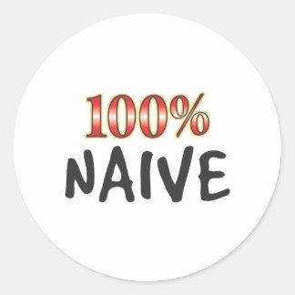 Naive 100 Percent Round Stickers
