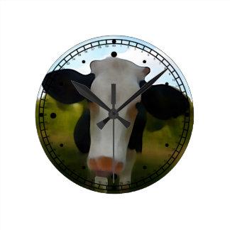 Naive New Painter Style Milk Cow Wallclocks