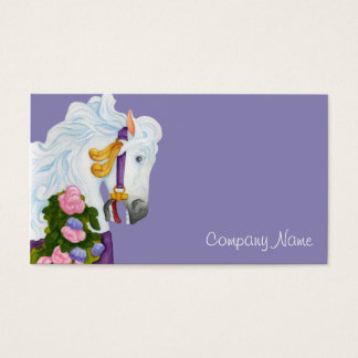 Najira Carousel Horse Business Card