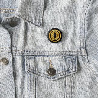 Nakagawa Mon Japanese samurai clan in faux gold 1 Inch Round Button