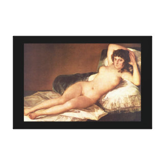 Naked Maja', Francisco de Goya_Portraits Gallery Wrapped Canvas