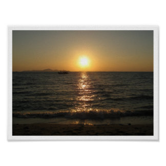 Naklua Beach Sunset ... Chonburi, Thailand Poster