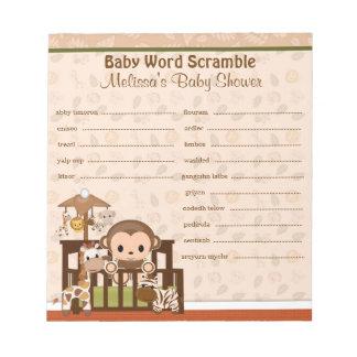 Nali Jungle Monkey Word Scramble NJM 40-pages Notepad