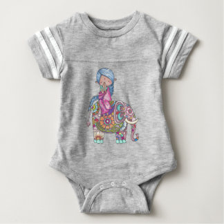 Nalini the small Hindu woman Baby Bodysuit