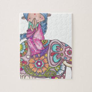 Nalini the small Hindu woman Jigsaw Puzzle