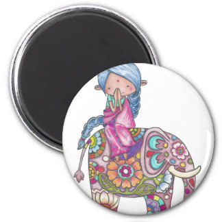 Nalini the small Hindu woman Magnet
