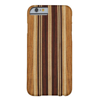 Nalu Lua Faux Koa Wood Surfboard Barely There iPhone 6 Case