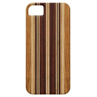 Nalu Lua Faux Koa Wood Surfboard iPhone 5 Cases