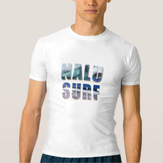 Nalu-Surf Hawaiian Wave Rash Guard T-shirt