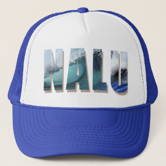 """Nalu"" Trucker cap with Hawaiian Wave Print"