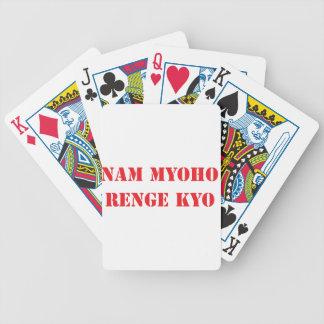 Nam Myoho Renge Kyo Bicycle Playing Cards