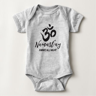 Namast'ay Awake All Night Baby Bodysuit