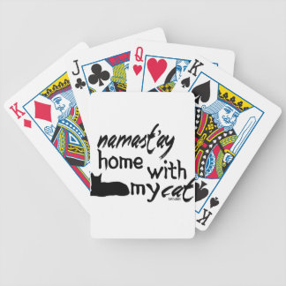 Namast'ay Home with My Cat Bicycle Playing Cards
