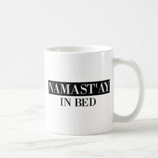 Namast'ay In Bed Coffee Mug