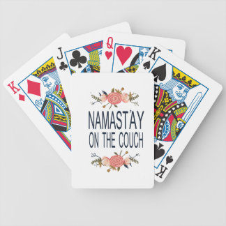 NAMASTAY ON THE COUCH Funny Bicycle Playing Cards