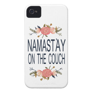 NAMASTAY ON THE COUCH Funny Case-Mate iPhone 4 Cases