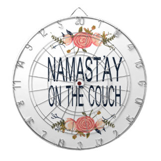 NAMASTAY ON THE COUCH Funny Dartboard