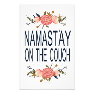 NAMASTAY ON THE COUCH Funny Stationery