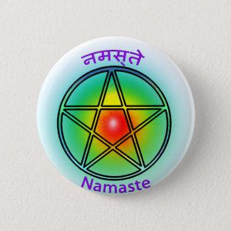Namaste 2 Inch Round Button