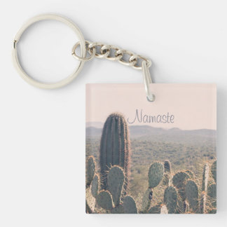 Namaste - Arizona Cacti | Acrylic Key Chain