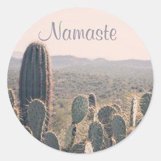 Namaste - Arizona Cacti   Sticker