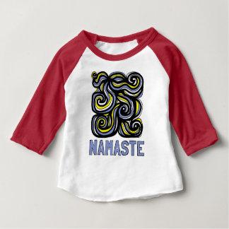 """""""Namaste"""" Baby 3/4 Raglan T-Shirt"""