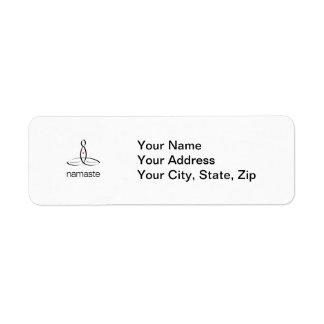 Namaste - Black Regular style Return Address Label