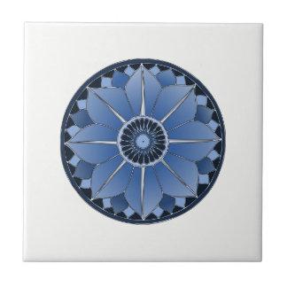 NAMASTE Blue Flower Spiritual Lotus Mandala Tile